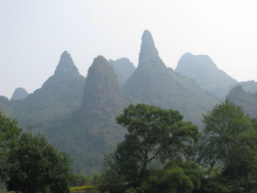 Subtropical karst landscape near Guilin, China